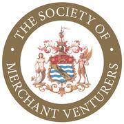 Merchant Venturers Logo White on Gold