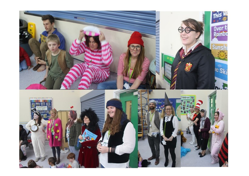 Staff at book day